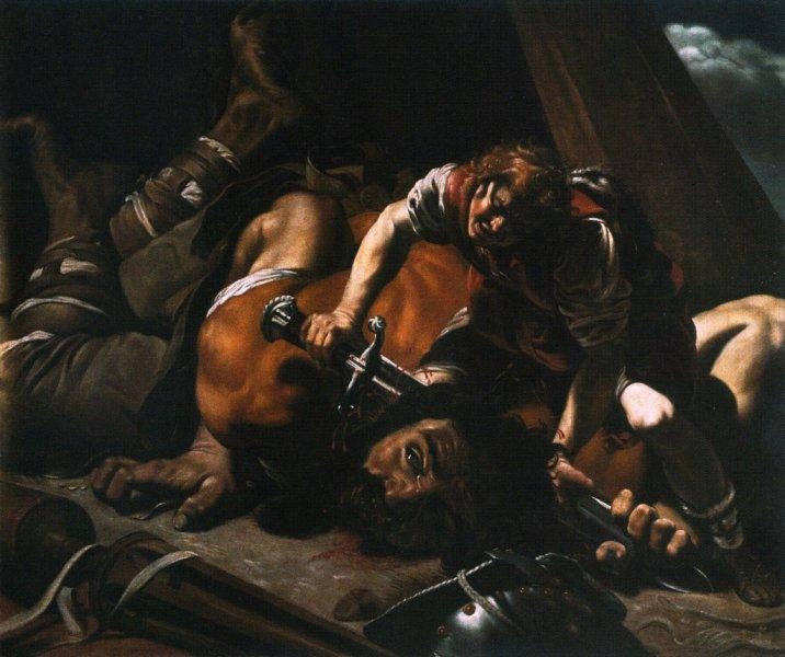 """Orazio Borgianni, """"Davide e Golia"""" (Real Academia de Bellas Artes de San Fernando, Madrid)"""