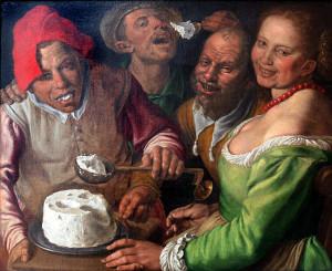 Vincenzo Campi, I mangiatori di ricotta (Musée des Beaux-Arts di Lione)
