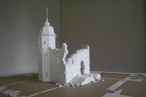 Peter Callesen, Walls of unwritten words, 2011, 78 x 68 x 35 cm. Carta e colla