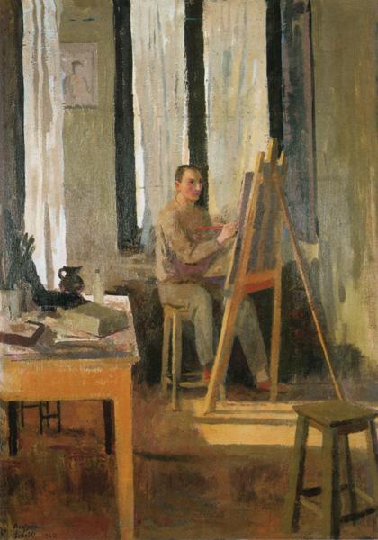 Sicbaldi - Autoritratto-nello-studio