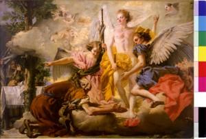 Tiepolo GD - Apparizione dei tre angeli e Abramo