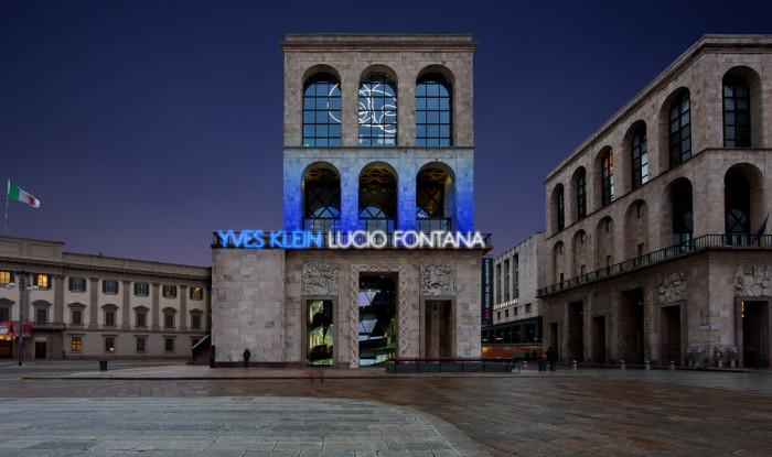 klein fontana milano museo del novecento