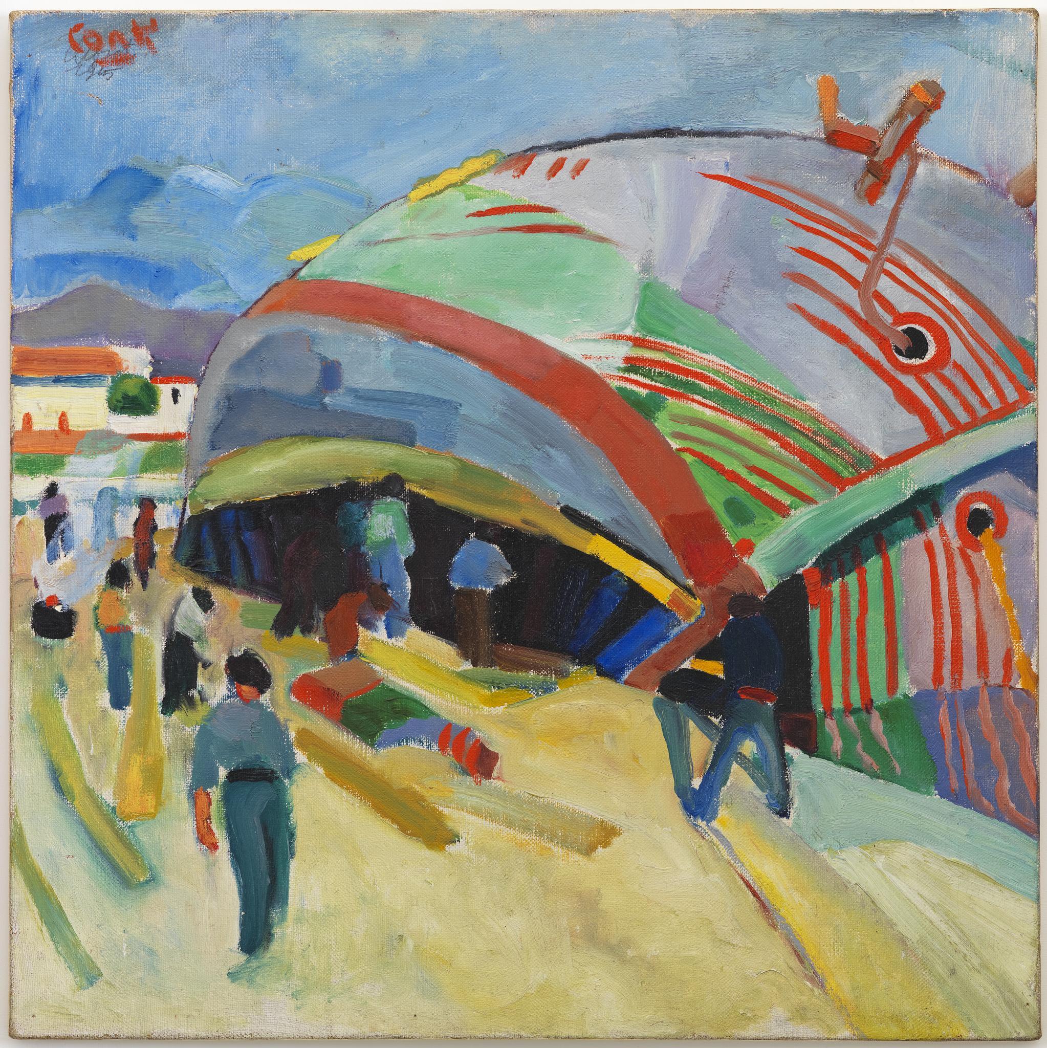 Darsena di Viareggio' di Primo Conti (1915) della collezione Ente CR Firenze