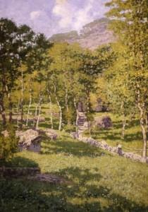 Enrico Reycend, Gaiezze montanine, 1909, olio su tela