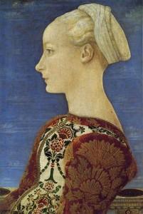Piero del Pollaiolo Ritratto di donna di profilo ©Berlino, Staatliche Museen, Preußischer Kulturbesitz, Gemäldegalerie