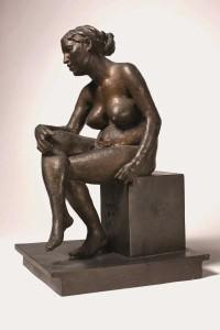 Vincenzo Gemito, La nutrice - Figura femminile seduta (1915-1920), bronz