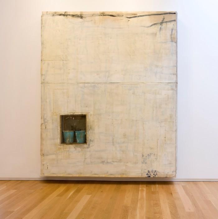 Lawrence Carroll Untitled, 2011 olio, cera e tela, secchi, scarpe, foglie