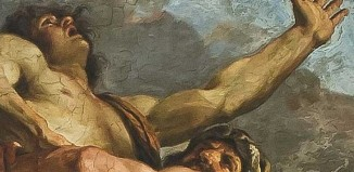Guercino, Palazzo Talon Sampieri, particolare dell'Affresco Ercole e Anteo
