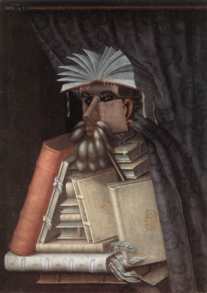 arcimboldo, il bibliotecario.