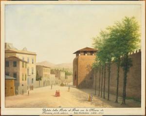 Fabio Borbottoni, Veduta di Porta al Prato