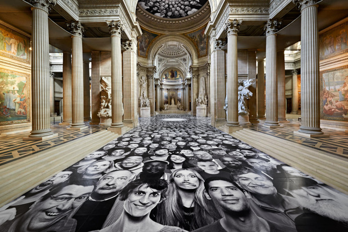 JR, Inside Out – Au Panthéon, Paris, 2014