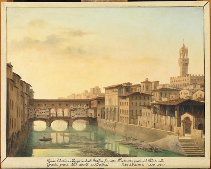 fabio borbottoni, ponte vecchio e lungarno degli uffizi