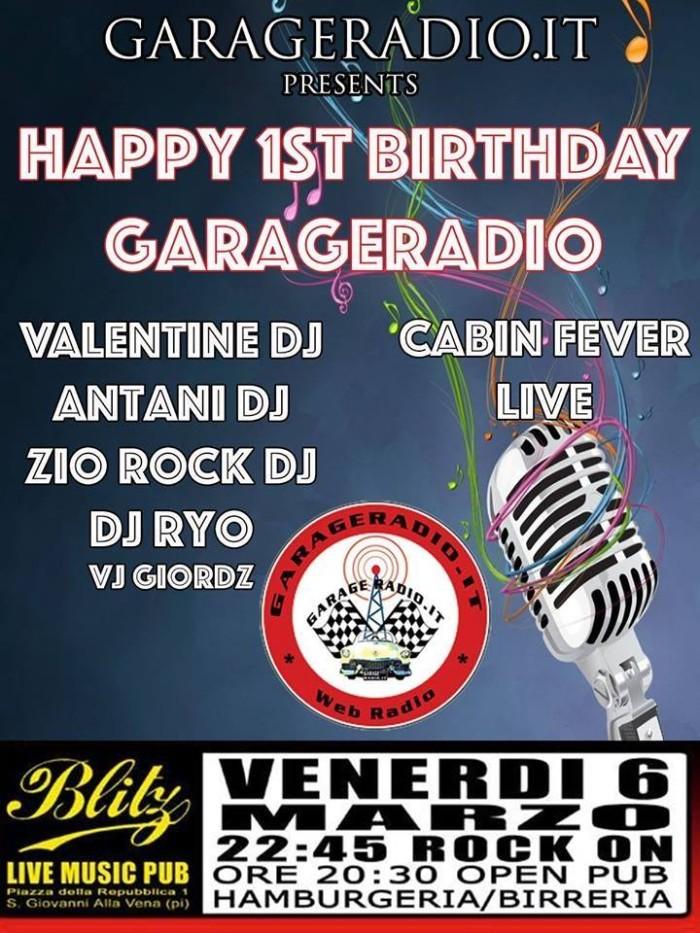garage radio compleanno