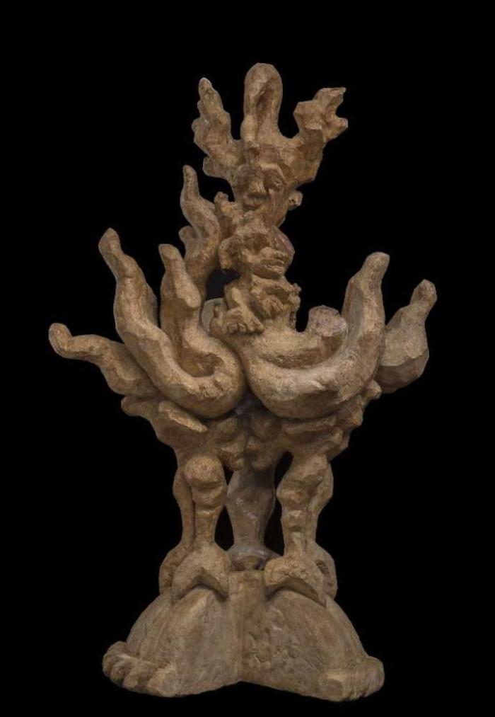 Lipchitz - Modello per lezione di un disastro - 1961-1970, scultura in gesso patinata
