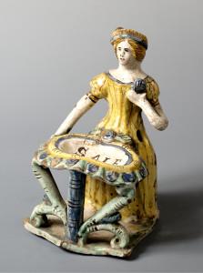 Saliera, datata 1745, manifattura di Ariano Irpino, Campania (Museo di Palazzo Davanzati)