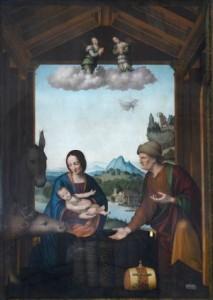 La Natività di Tortona Leonardo da Vinci attribuita