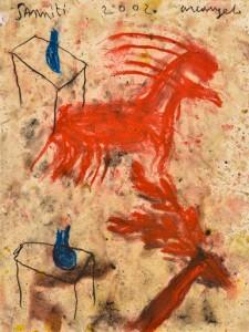 Arcangelo Sanniti, 2002 Disegno su carta, cm 32x24