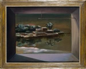Ercole Pignatelli (Courtesy: Fondazione Tega) Masseria, 1985 Olio su tela, cm 55x72