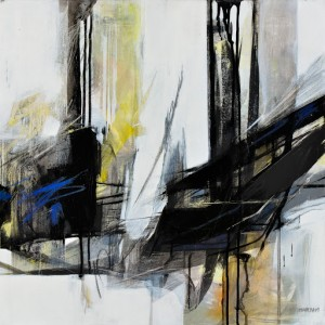 Maryam Bakhtiari Oltre lo specchio, 2015 Tecnica mista su tela, cm 50x50