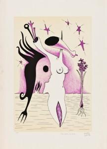 Maurice Henry (Courtesy: Elda Zanetti Henry) Une création du monde, 1970 Litografia su carta, cm 70x50