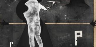 Falso movimento, 2017, tecnica mista su pannello ligneo, cm 182x210