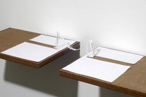 Peter Callesen Bridge Over Troubled Water, 2005 , A4, carta e colla