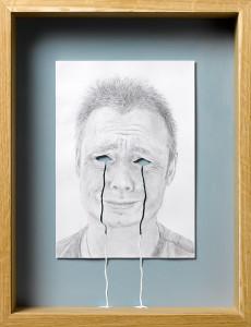 Peter Callesen, Crying my eyes out, carta e colla, A4, colori acrilici, cornice di legno