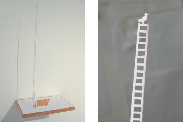 Peter Callesen, Ladder, 2007, A4, carta e colla