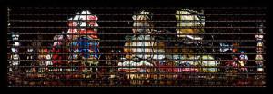Thomas Kellner, New York, Night at Times Square, 8-11 p.m., 2003 , 136,5 x 42,0cm