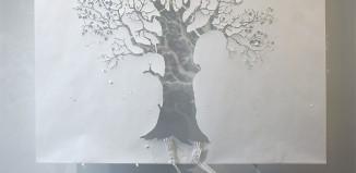 Peter Callesen- Fall - carta e colla : 210 x240-x70