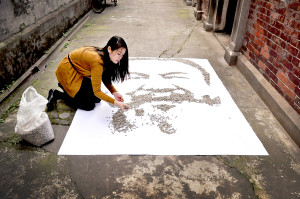Red Hong Yi, ritratto di Ai Weiwei, 100.000 semi di girasole