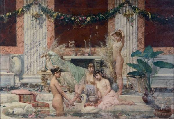 Alessandro Pigna, Frigidarium, 1882, olio su tela
