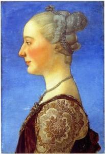 .Piero del Pollaiolo Ritratto di donna di profilo ©Firenze, Galleria degli Uffizi