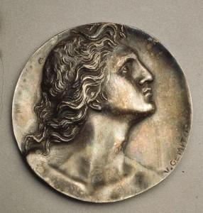 Vincenzo Gemito, Medaglione di Alessandro Magno (1920), argento