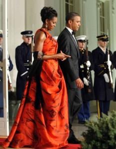 oscar de la renta michelle-obama