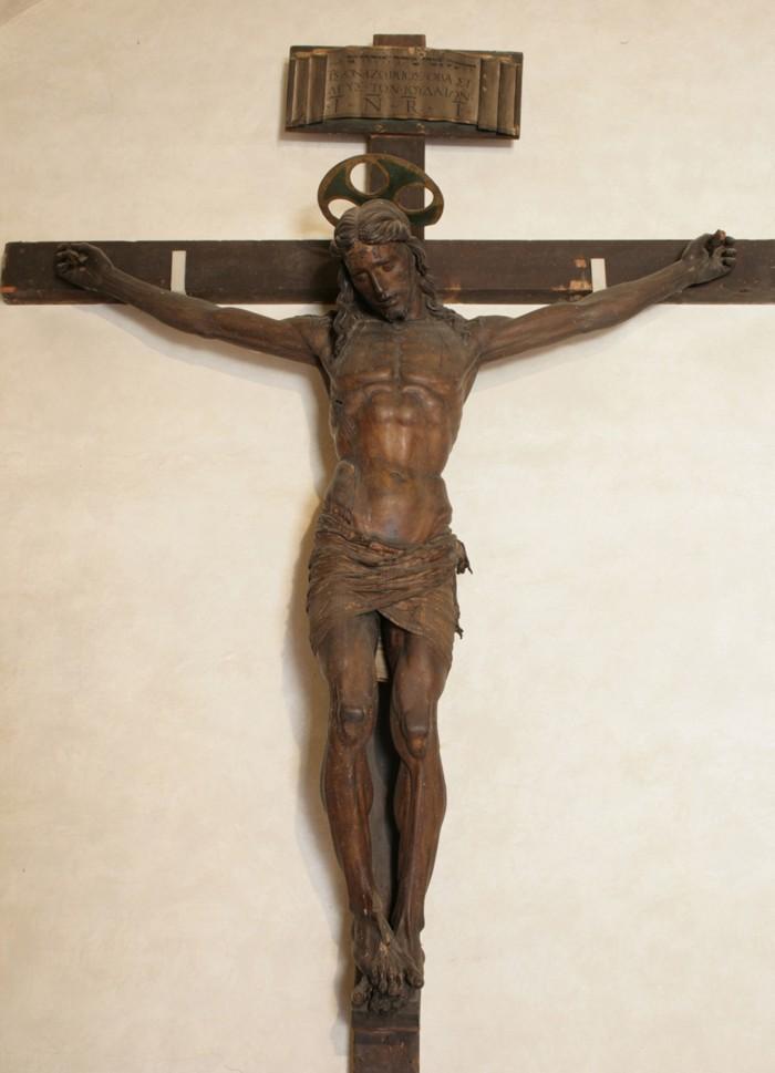 Antonio (o Francesco) da Sangallo, Crocifisso ligneo, Cappella degli Artisti,Basilica SS Annunziata, Firenze