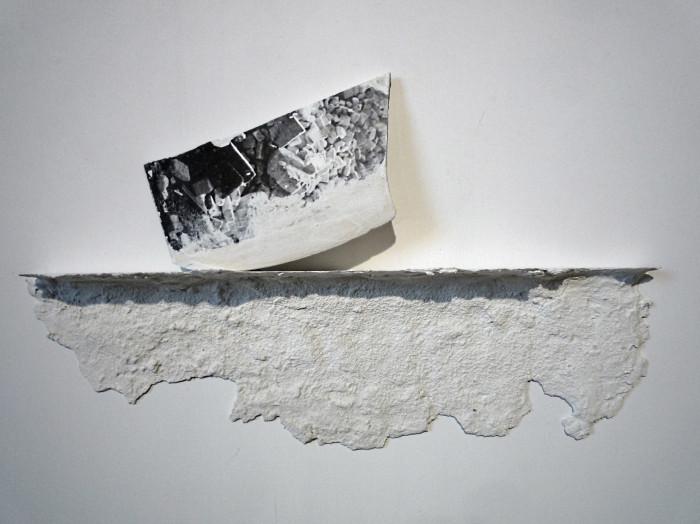Franco Guerzoni Archeologie senza restauro, 2014 stampa su gesso e scagliola cm 28 x 48