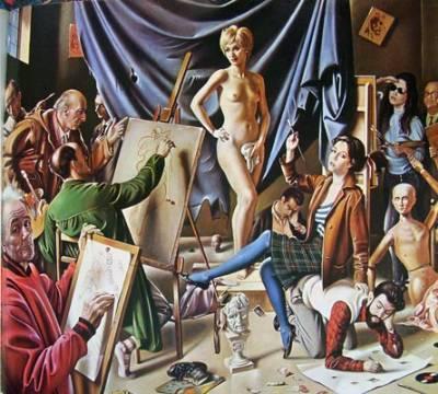 G.Sciltian, La Scuola dei modernisti 1956  120x145 Olio su tela Collezione Privata