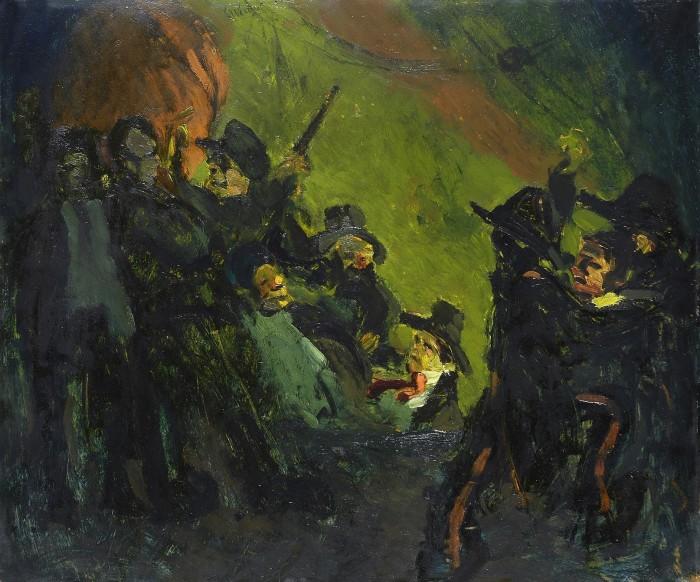 Lorenzo Viani, Comizio anarchico, 1914