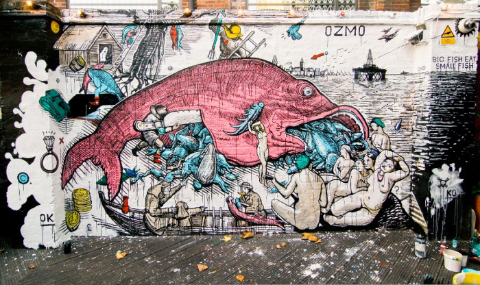 OZMO, BIG FISH EATS SMALL FISH , London,2011, photo by Petra Valenti