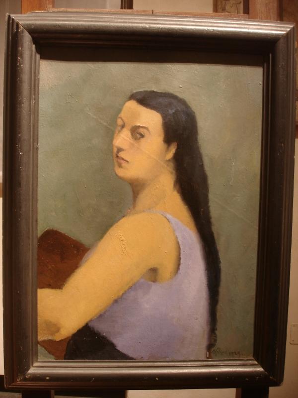 Marisa Mori, Autoritratto in azzurro, Uffizi