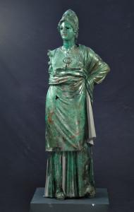 Atena (Minerva di Arezzo),300-270 a.C., bronzo, rame,cm 155 x 50 x 50, Firenze, Museo Archeologico Nazionale