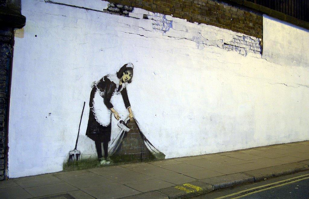 Banksy, maiden - Londra, 2007
