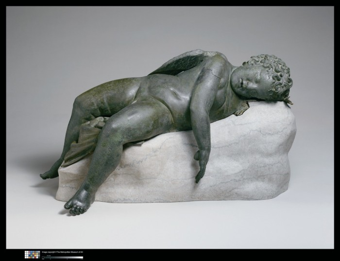 Eros dormiente, III-II secolo a.C., cm 41,9 x 85,2 x 35,6 cm 45,7, con baseNew York, The Metropolitan Museum of Art