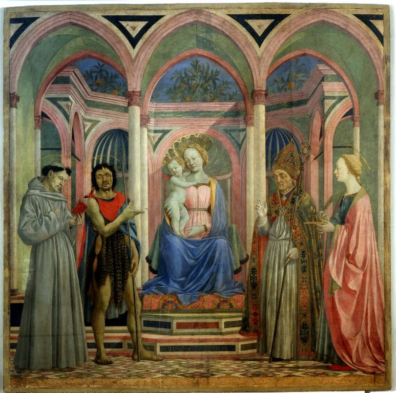 Domenico Veneziano, Pala di Santa Lucia de' Magnoli, Uffizi