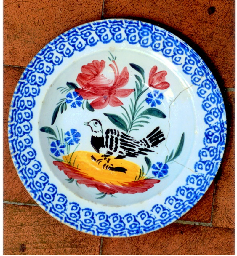 Ceramica popolare, Scodella, sec. XX, manifattura Nove, Veneto