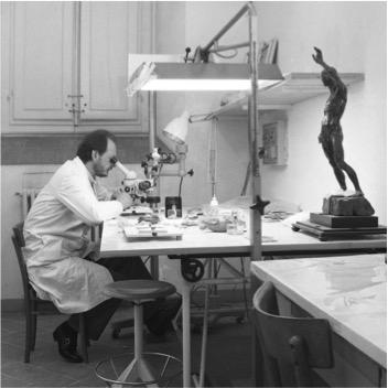 Guglielmo Galli in laboratorio
