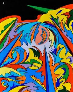 Antonio Fiore Visioni cosmiche n.5-ufagrà, 2008 Acrilico su tela, cm 50x40
