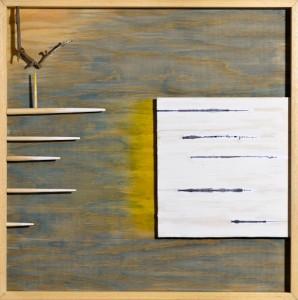 Bruno Conte Biverbo, 2013 Costruzione in legno e pittura, cm 60x60