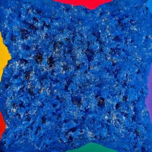Ennio Finzi La pittura estromessa, 2011 Tecnica mista con cornice a losanga, cm 140x140